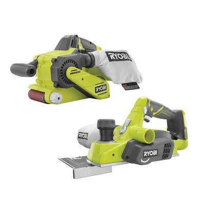 18-Volt ONE+ Lithium-Ion Brushless Cordless 3 in. x 18 in. Belt Sander and 3-1/4 in. Planer (Tools Only)