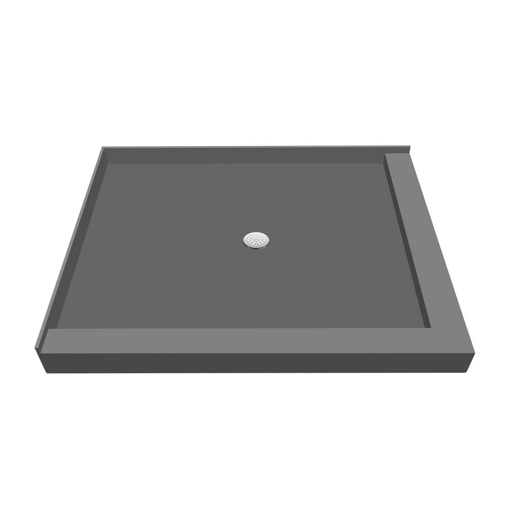 36 in. x 66 in. Double Threshold Shower Base with Center
