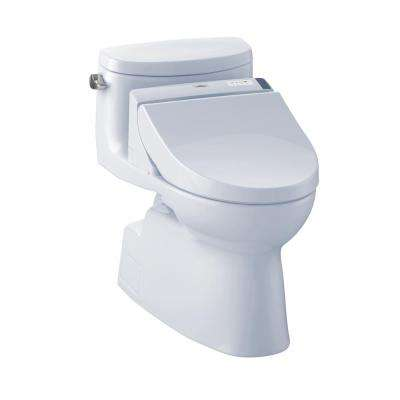 Carolina II Connect+ 1-Piece 1.28 GPF Elongated Toilet with Washlet C200 Bidet Seat and CeFiOntect in Cotton White