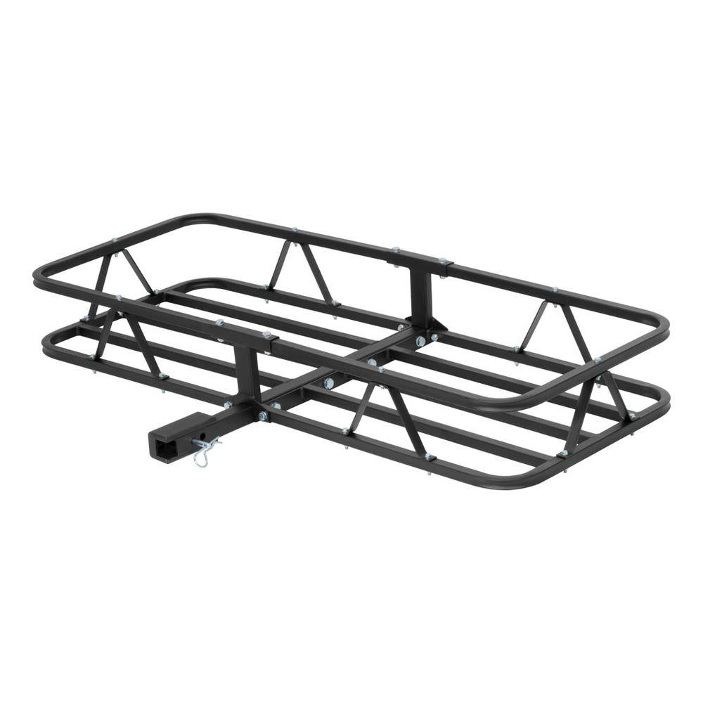 CURT 500 lbs. Capacity Basket-Style Cargo Carrier with 1.25 in. Fixed Shank and 2 in. Adapter Sleeve