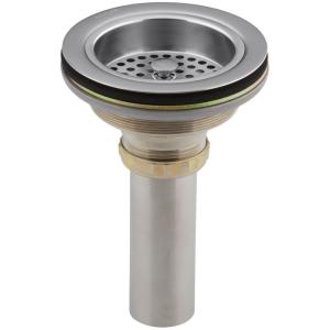 Duostrainer 4-1/2 inch Sink Strainer with Tailpiece in Brushed Chrome by