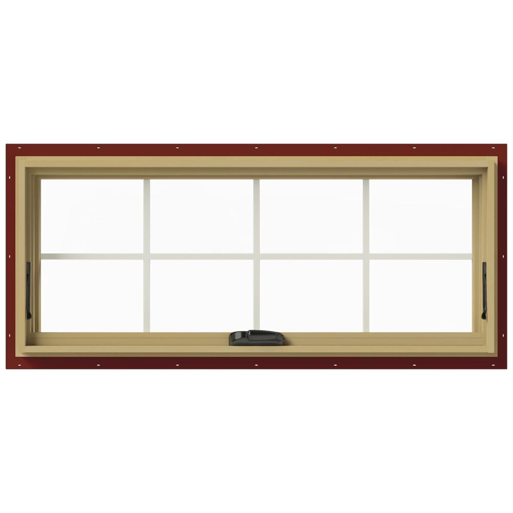 JELD-WEN 48 in. x 20 in. W-2500 Awning Aluminum Clad Wood Window ...
