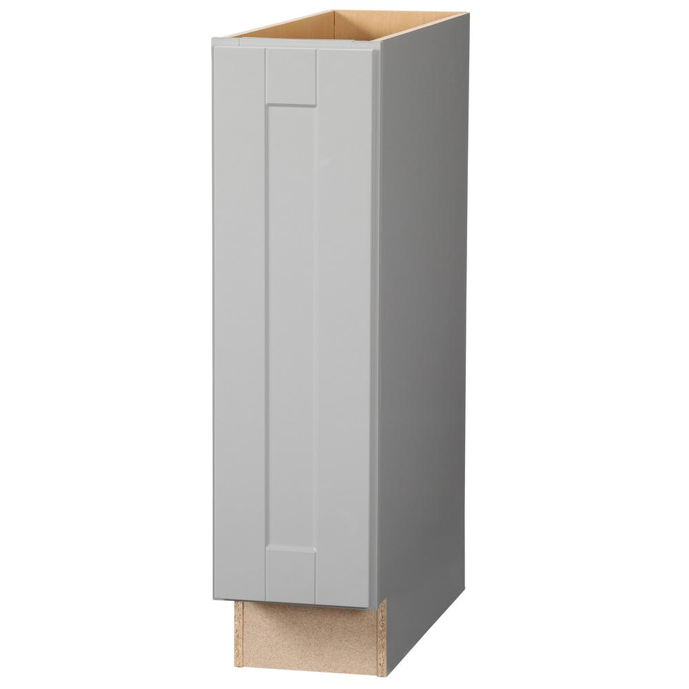Hampton Bay Shaker Assembled 9x34.5x24 in. Base Kitchen Cabinet in Dove Gray-KBF09-SDV - The ...
