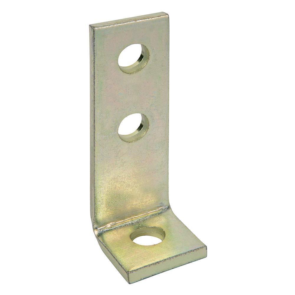 3-Hole 90° Gold Galvanized Bracket (Case of 50)