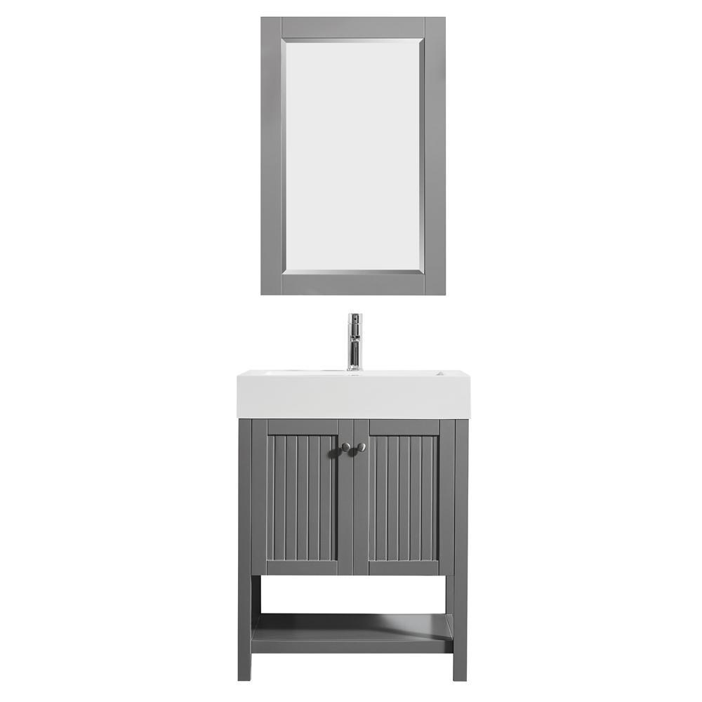 D Vanity In Grey With Acrylic