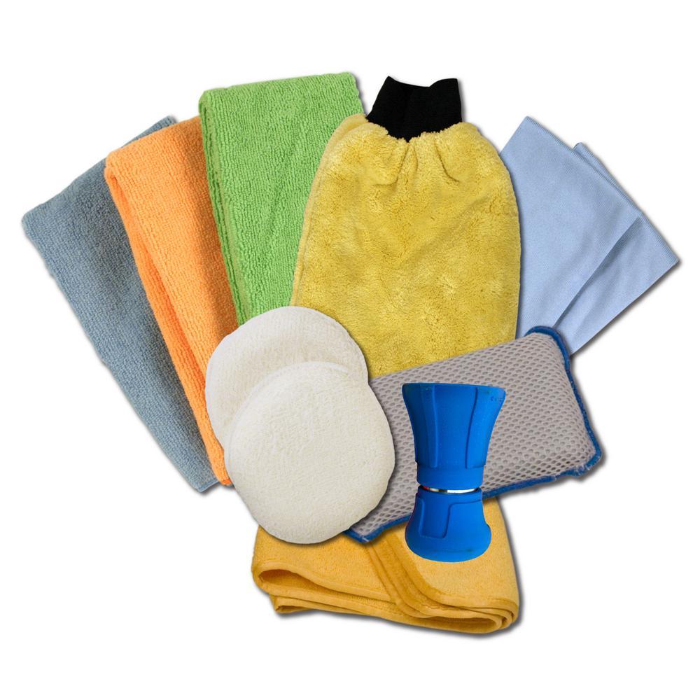 Detailer S Choice Microfiber Car Wash Kit 11 Piece