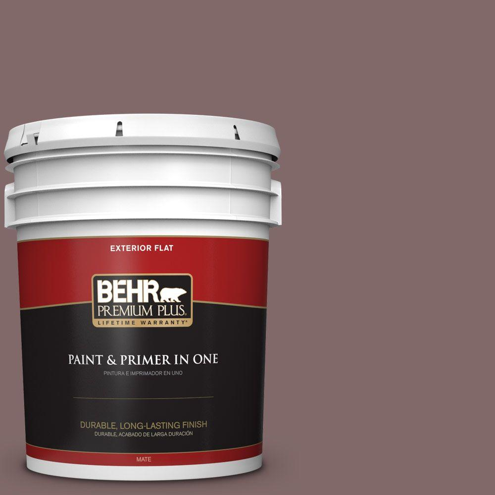 BEHR Premium Plus 5-gal. #N120-6 Raisin in the Sun Flat Exterior Paint