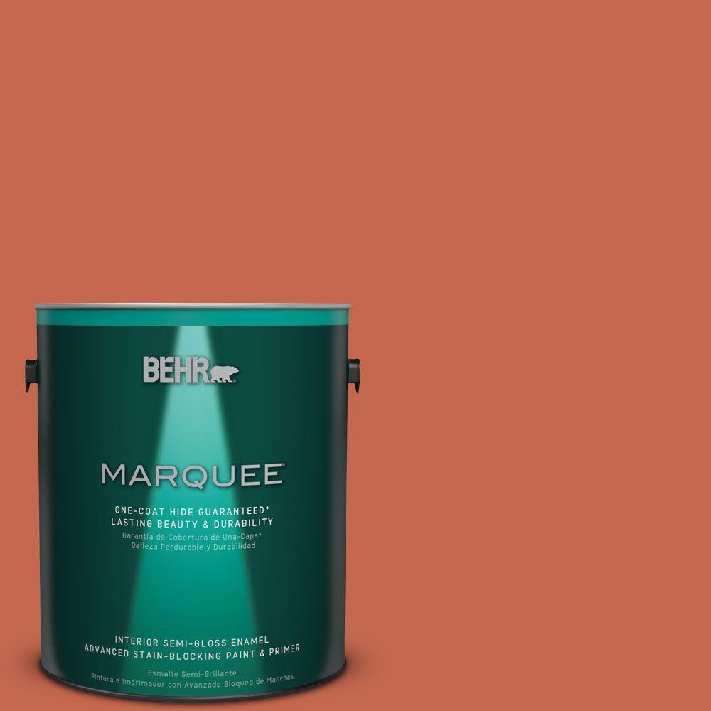 1 gal. #T16-14 Raw Copper Semi-Gloss Enamel Interior Paint