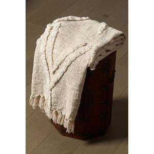 Natural Cotton Flynn Tufted Throw