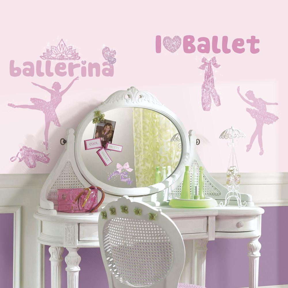 5 in. x 11.5 in. Ballet Peel and Stick Wall Decal