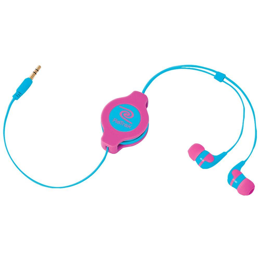 Earbuds Neon, Pink/Blue