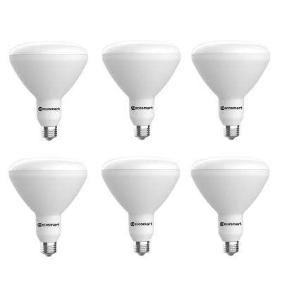 75-Watt Equivalent BR40 Dimmable CEC LED Light Bulb Soft White (6-Pack)