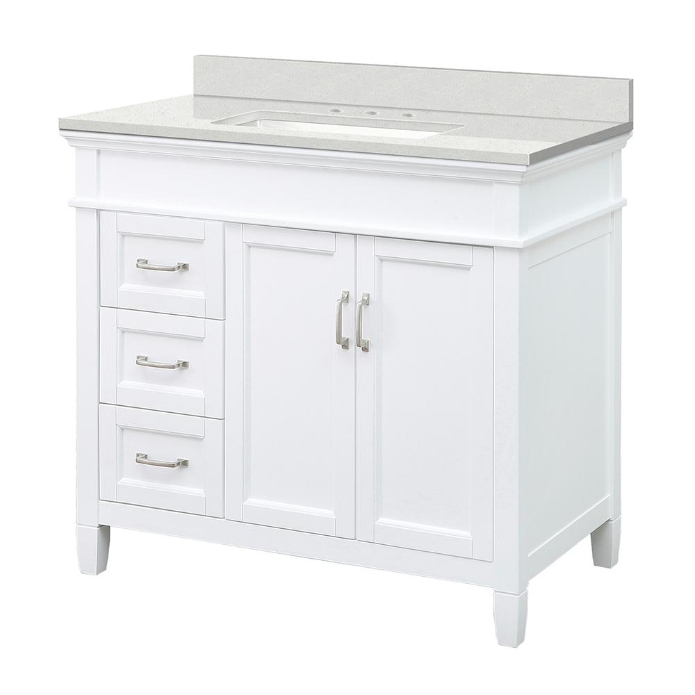 Foremost Ashburn 37 In W X 22 D Vanity Cabinet White With
