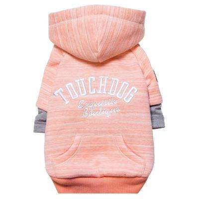 Medium Pink Hampton Beach Designer Ultra Soft Sand-Blasted Cotton Pet Dog Hoodie Sweater