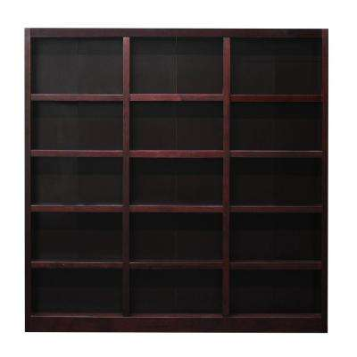 72 in. x 72 in. Cherry Wall Storage Unit