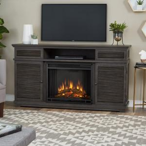 Real Flame Cavallo 59 inch Entertainment Electric Fireplace in Gray by Real Flame
