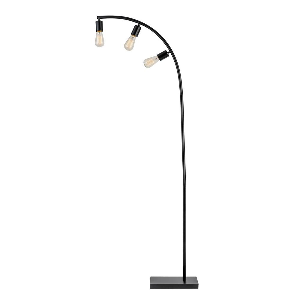 Globe Electric Winslow 70 in. Black Floor Lamp-12950 - The Home Depot