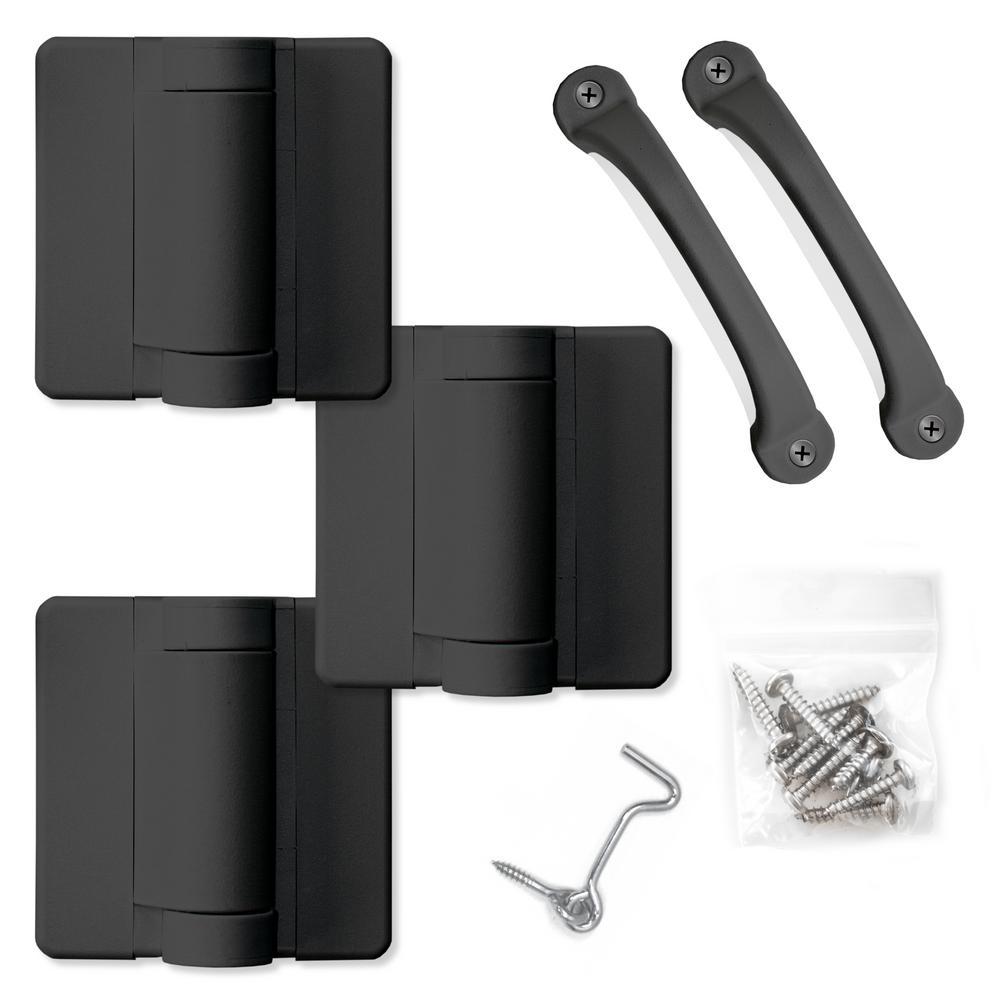 Black Heavy Duty Screen Door Hardware Kit