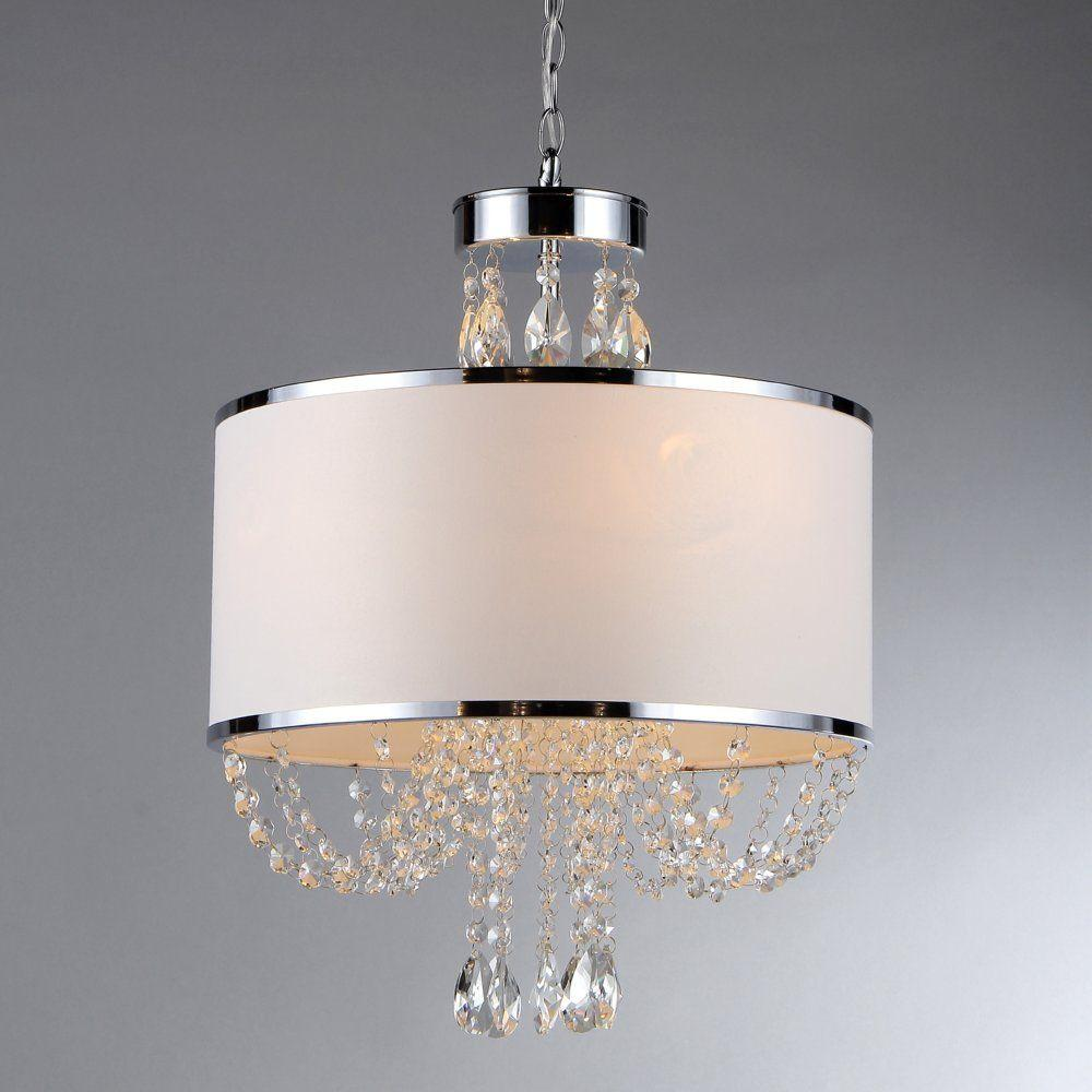 Warehouse of tiffany hera 4 light chrome chandelier with fabric warehouse of tiffany hera 4 light chrome chandelier with fabric shade arubaitofo Image collections