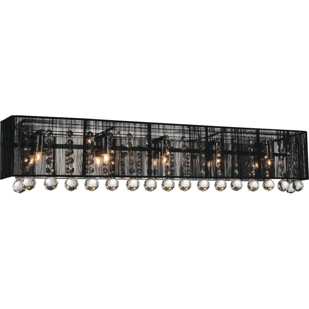 Shower 4-Light Chrome Sconce