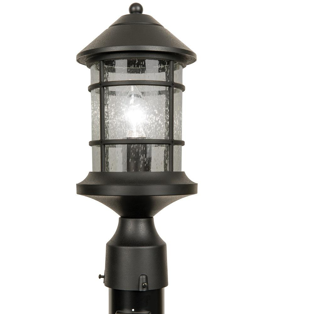 Outdoor Post Lights At Home Depot: Newport Crest Sunset Outdoor Black Post Light-7787-03B
