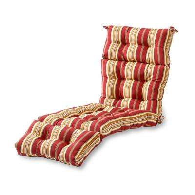 Roma Stripe Outdoor Chaise Lounge Cushion