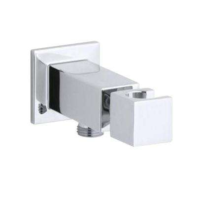 Loure Wall-Mount Metal Handshower Holder in Polished Chrome