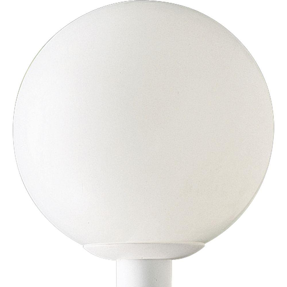 Progress Lighting Globe Collection 1-Light White Outdoor Post Lantern