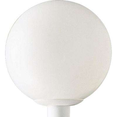 Globe Collection 1-Light Outdoor White Post Lantern