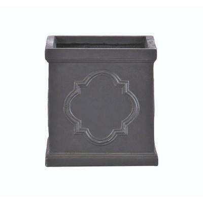 Quarterfoil 20 in. H x 21.5 in. Square Resin Planter