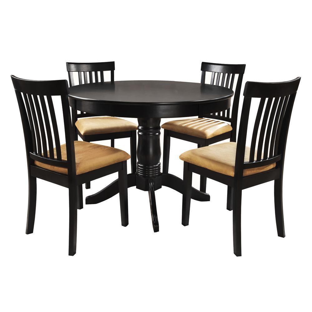 5-Piece Black Dining Set