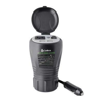 Cup-Holder Design 200-Watt Power Inverter