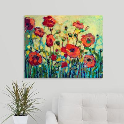 """30 in. x 24 in. """"Anitas Poppies"""" by  Jennifer Lommers Canvas Wall Art"""