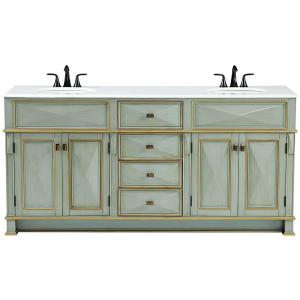 d double bath vanity in gilded green