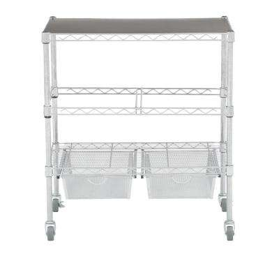 Heavy Duty File Cart With Storage Drawers
