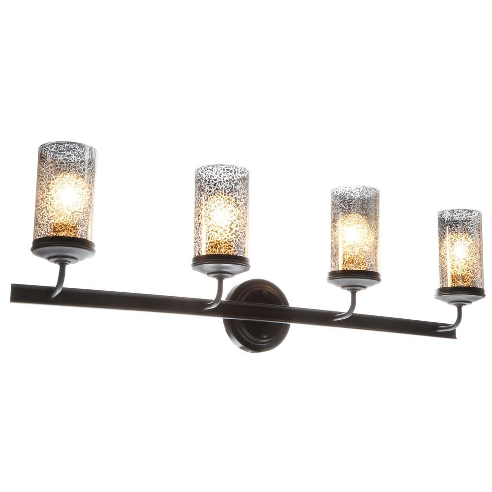 Sea Gull Lighting Sfera 4-Light Autumn Bronze Wall/Bath Vanity Light with Mercury Glass-4410404 ...