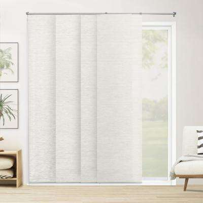Cut-to-Width Panel Track Blind Carlisle Rice Paper and Polyester Cordless 22 in. Vertical Blind - 80 in. W x 96 in. L