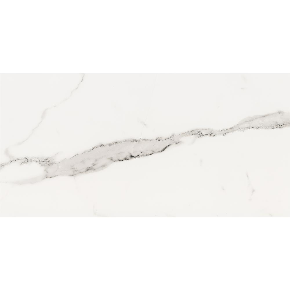 ELIANE Belmar White 12 in. x 24 in. Porcelain Floor and Wall Tile (13.56 sq. ft. / case)