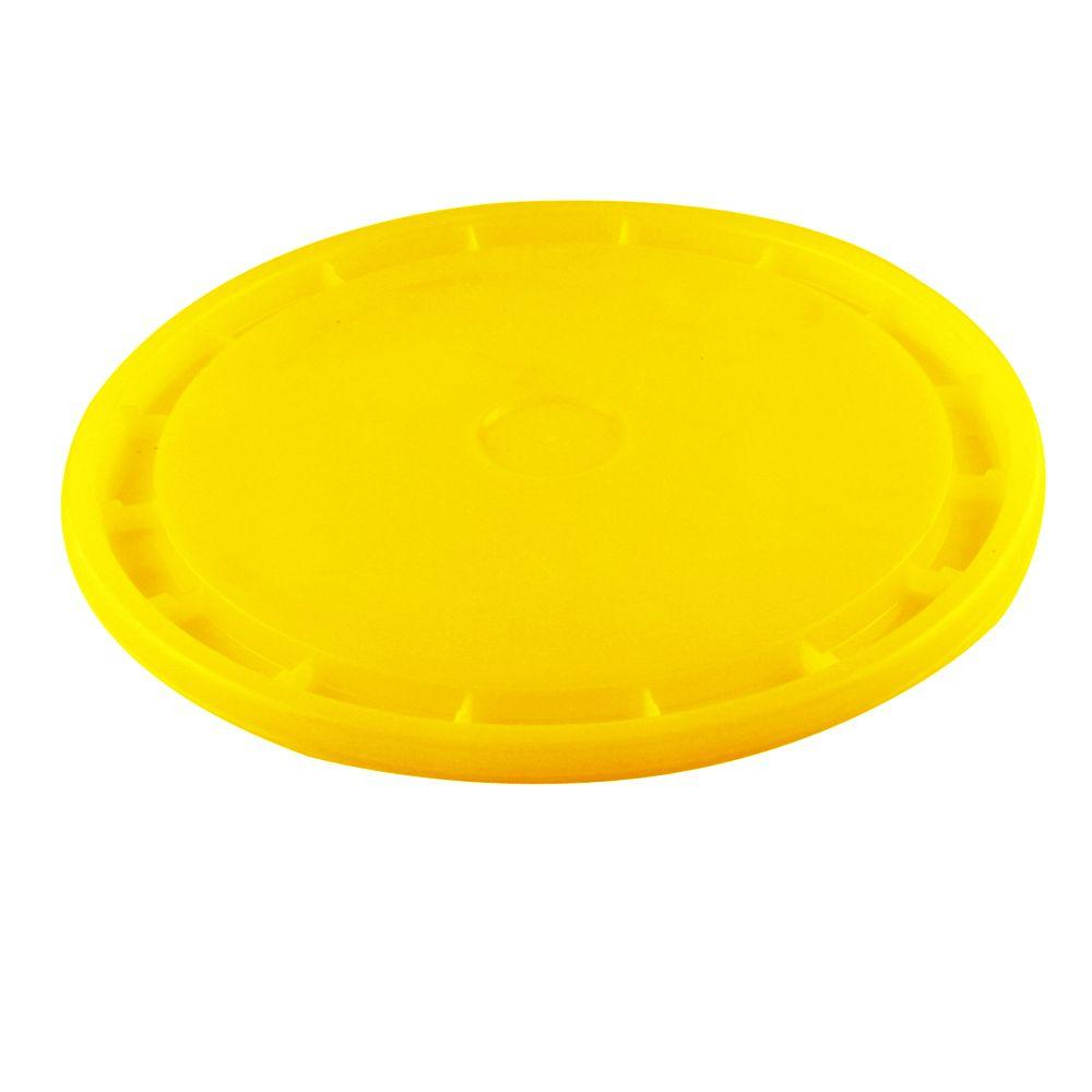 Leaktite Yellow Reusable Easy Off Lid for 5-Gal. Pail (10-Pack)