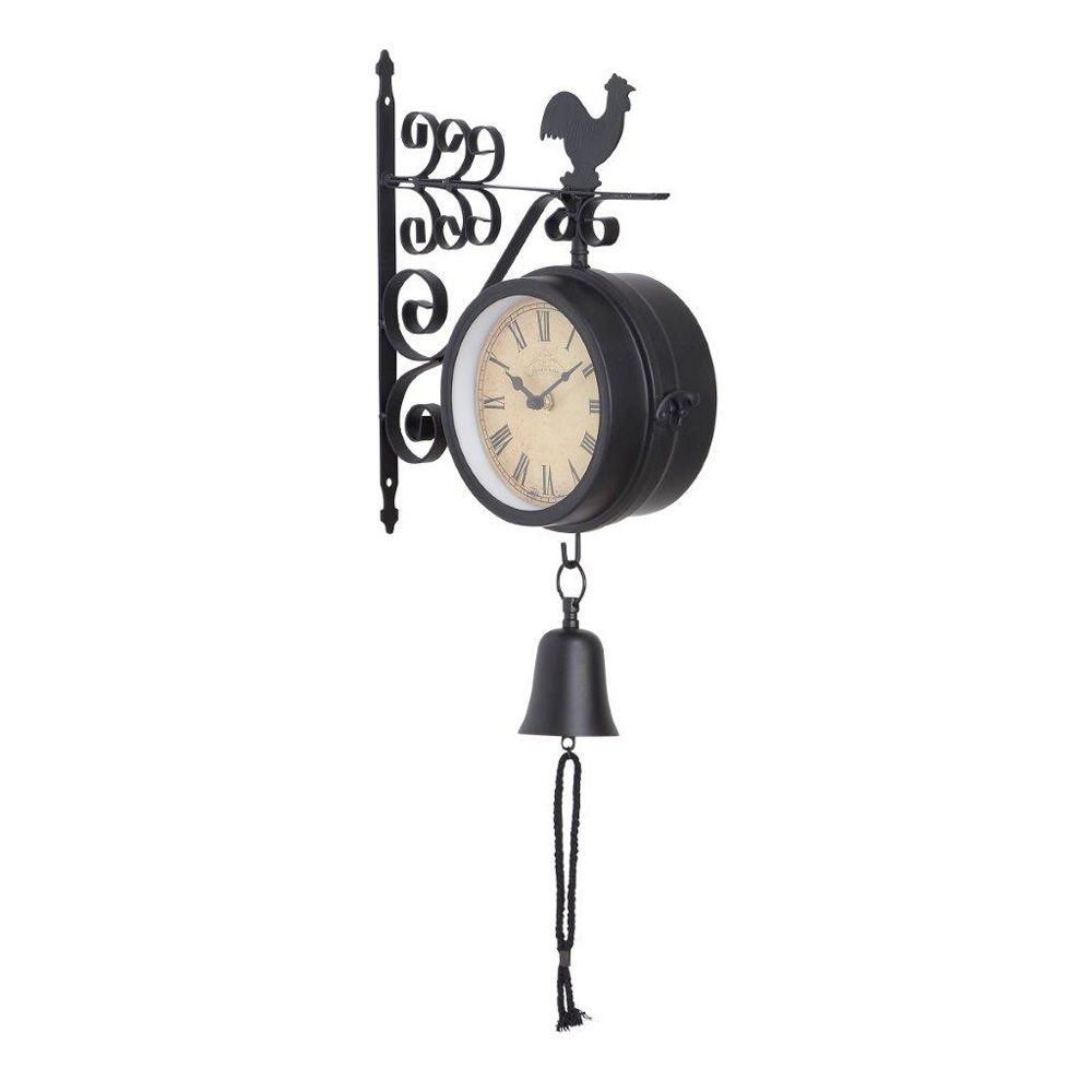 ORE International 10 in. L x 4 in. W x 22 in. H Montreal Outdoor Double Side Wall Clock