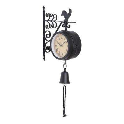 10 in. L x 4 in. W x 22 in. H Montreal Outdoor Double Side Wall Clock