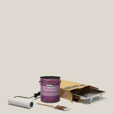 1 gal. #N320-1 Campfire Ash Extra Durable Eggshell Enamel Interior Paint and 5-Piece Wooster Set All-in-One Project Kit