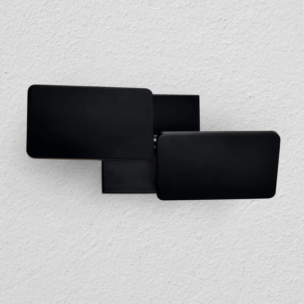 Eclipse 6-Watt Black Integrated LED Sconce