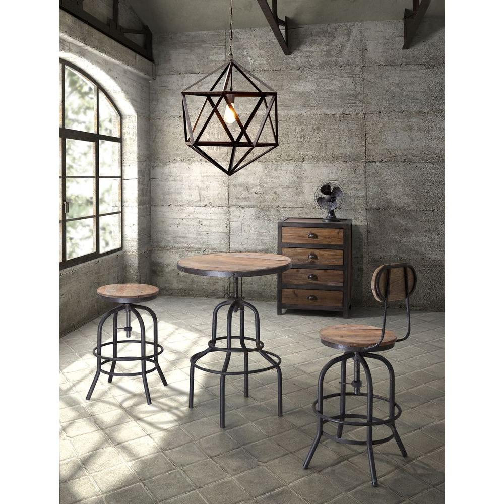 Distressed Natural Bar Stool