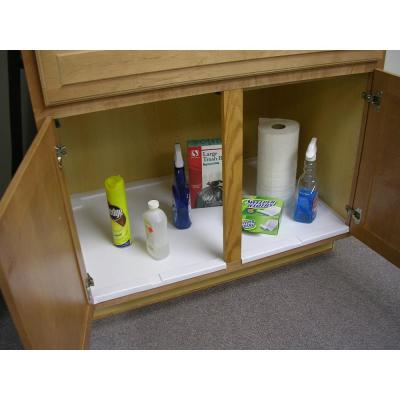 Trimmable Under Sink Liner Tray For Base Cabinets Up To