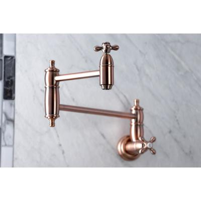 Restoration Wall Mounted Pot Filler in Antique Copper