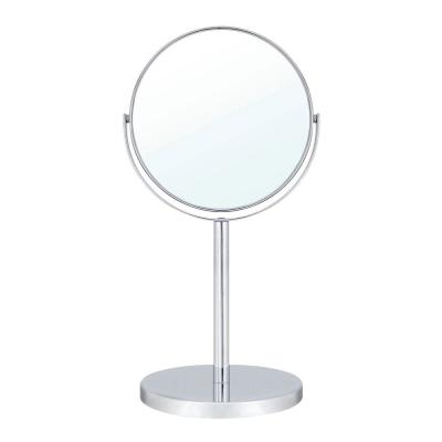 6 in. 2-Sided 1X and 5X 14 in. Counter Top Magnifying Makeup Mirror in Polished Chrome