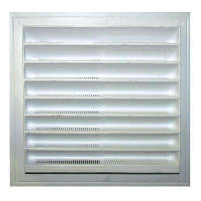 8 in. x 8 in. Plastic Wall Louver Static Vent in White