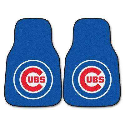Chicago Cubs 18 in. x 27 in. 2-Piece Carpeted Car Mat Set