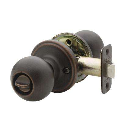 Ball Tuscan Bronze Privacy Bed/Bath Door Knob